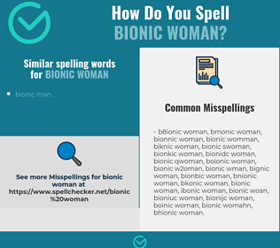 Correct spelling for bionic woman