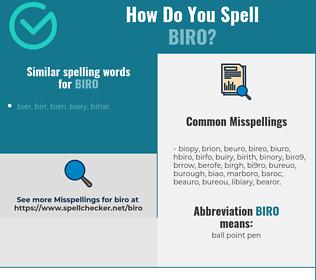 Correct spelling for biro