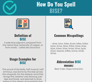 Correct spelling for bise