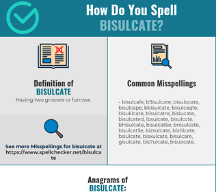 Correct spelling for bisulcate