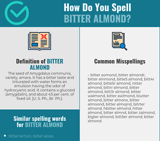 Correct spelling for bitter almond