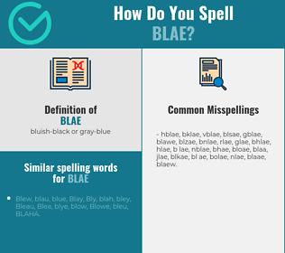 Correct spelling for blae