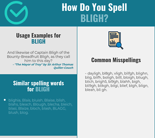 Correct spelling for bligh