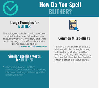 Correct spelling for blither