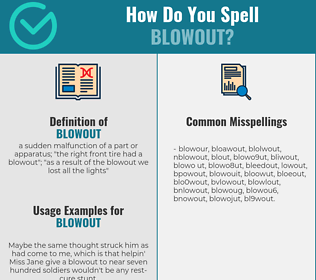 Correct spelling for blowout