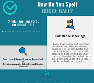 Correct spelling for bocce ball
