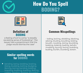 Correct spelling for boding