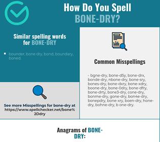 Correct spelling for bone-dry