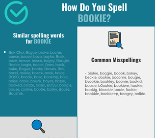 Correct spelling for bookie