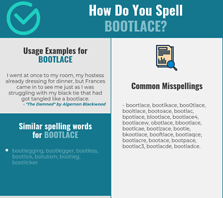 Correct spelling for bootlace