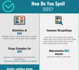Correct spelling for bos