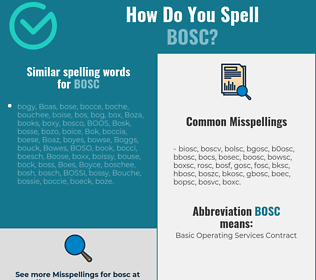 Correct spelling for bosc
