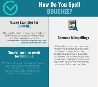 Correct spelling for bouchee