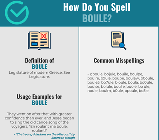 Correct spelling for boule