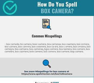 Correct spelling for box camera