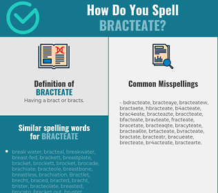 Correct spelling for bracteate