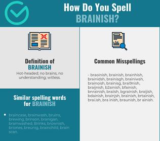 Correct spelling for brainish
