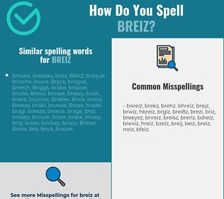 Correct spelling for breiz