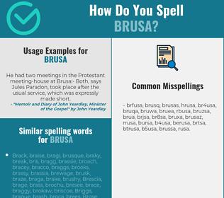 Correct spelling for brusa