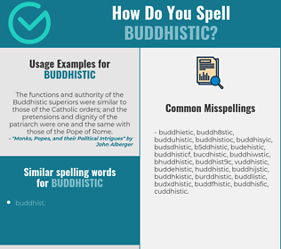 Correct spelling for buddhistic