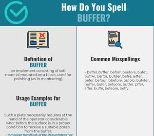 Correct spelling for buffer