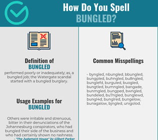 Correct spelling for bungled