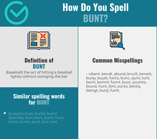 Correct spelling for bunt