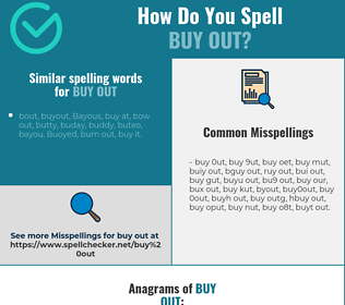 Correct spelling for buy out