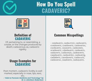 Correct spelling for cadaveric