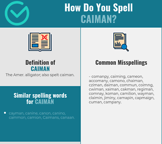 Correct spelling for caiman