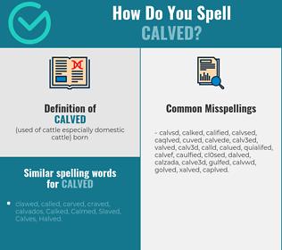 Correct spelling for calved