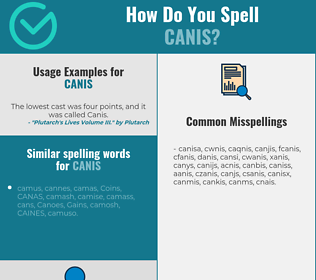 Correct spelling for canis