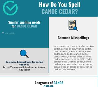 Correct spelling for canoe cedar