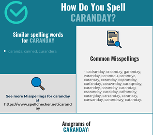 Correct spelling for caranday