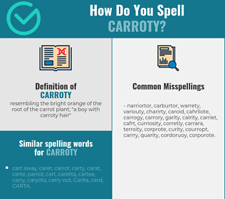 Correct spelling for carroty