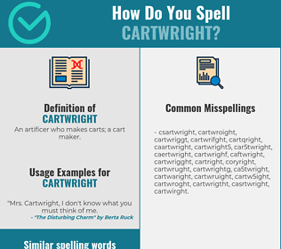Correct spelling for cartwright
