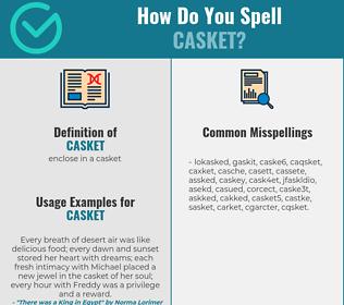 Correct spelling for casket