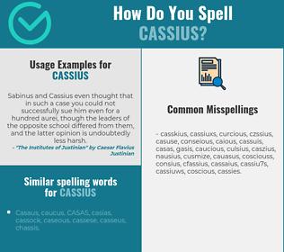 Correct spelling for cassius
