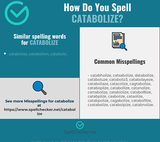 Correct spelling for catabolize