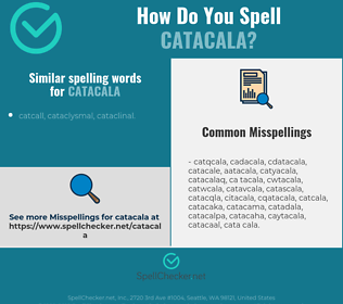 Correct spelling for catacala