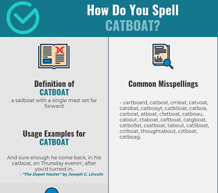 Correct spelling for catboat