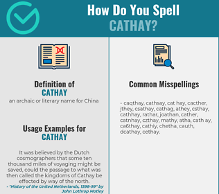 Correct spelling for cathay