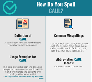 Correct spelling for caul