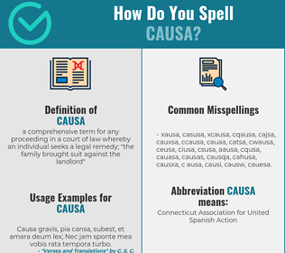 Correct spelling for causa
