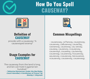 Correct spelling for causeway