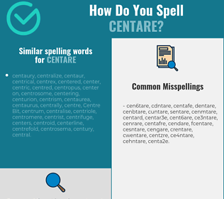 Correct spelling for centare