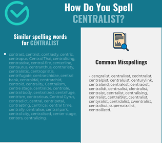Correct spelling for centralist