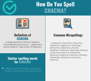Correct spelling for chacma