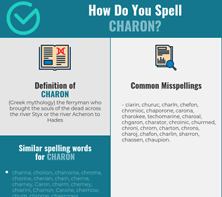Correct spelling for charon