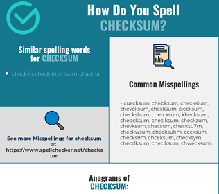 Correct spelling for checksum